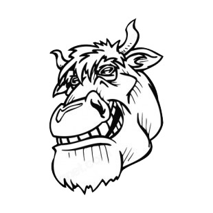 Smilling bull face listed in mascots decals.