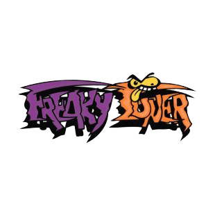 Purple and orange freaky tuner word graffiti listed in graffiti decals.