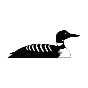 Duck swimming listed in birds decals.