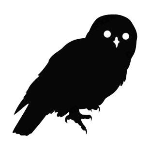 Snowy owl birds decals, decal sticker #15814