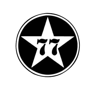 77 star logo listed in famous logos decals.