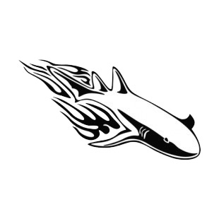 Flamboyant shark  listed in flames decals.