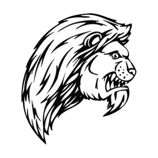 Angry lion face mascot listed in mascots decals.