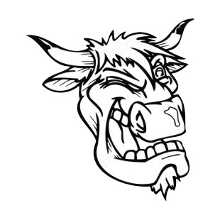 Bull face blinking mascot listed in mascots decals.