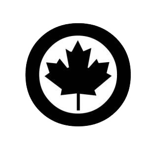 Air canada logo listed in famous logos decals.