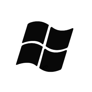 Microsoft windows logo listed in famous logos decals.
