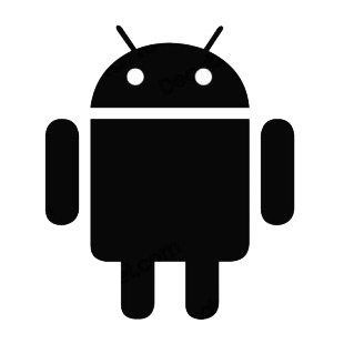 Android robot listed in famous logos decals.