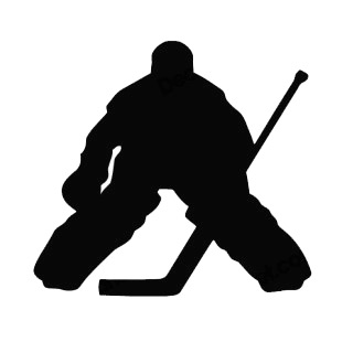 Hockey goalie goaler silhouette other hockey decals, decal sticker ...