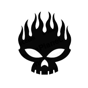 The Offspring logo flaming skull listed in music and bands decals.