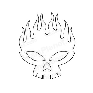 Flaming Skull Coloring Pages http://www.decalsplanet.com/item-1656-the-offspring-logo-flaming-skull.html