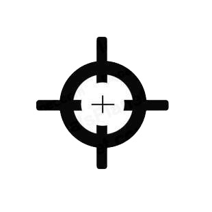 Rifle scope sniper shot listed in military decals.