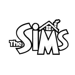The Sims logo listed in famous logos decals.