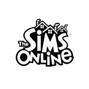 The Sims Online logo listed in famous logos decals.