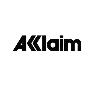 Acclaim logo listed in famous logos decals.