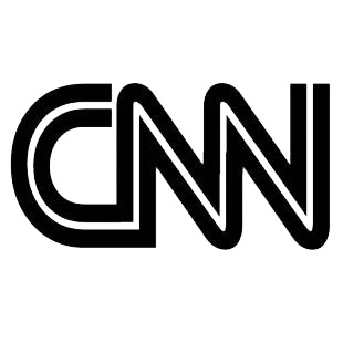 cnn logo famous logos decals decal sticker 180