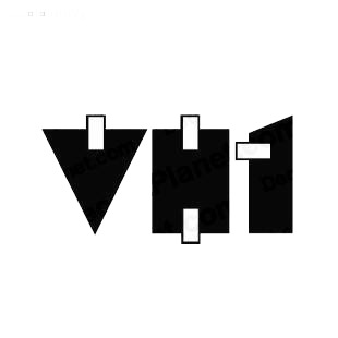 VH1 TV Channel listed in famous logos decals.