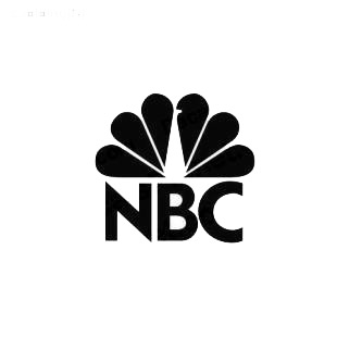 NBC TV Channel listed in famous logos decals.
