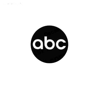 ABC TV Channel listed in famous logos decals.