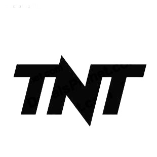 TNT TV Channel listed in famous logos decals.