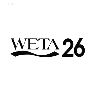 WETA 26 TV Channel listed in famous logos decals.