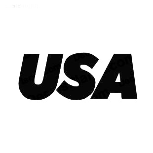 USA TV Channel listed in famous logos decals.