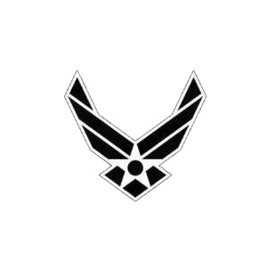 US Air force logo listed in military decals.