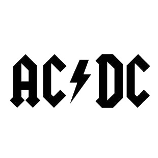 AC DC ACDC logo listed in famous logos decals.