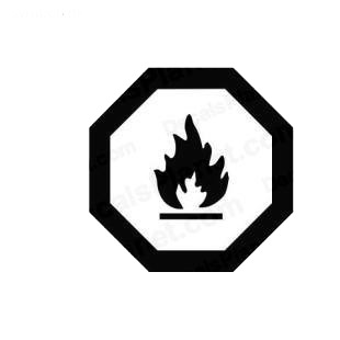 Fire sign symbol listed in miscellaneous decals.