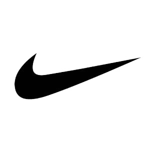 Nike swoosh logo listed in famous logos decals.