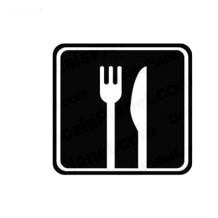 Eating sign symbol listed in miscellaneous decals.