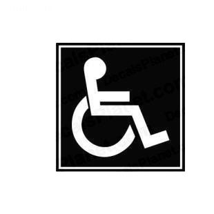 Disabled sign symbol listed in miscellaneous decals.