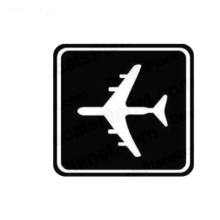 Airport sign symbol listed in miscellaneous decals.