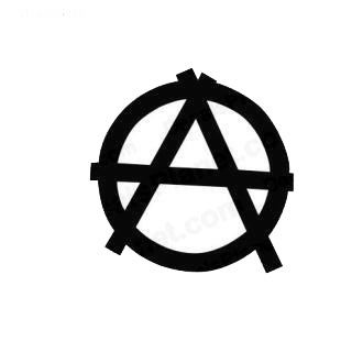 Anarchic sign symbol listed in miscellaneous decals.