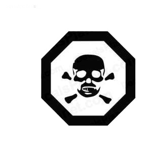 Chemical sign symbol listed in miscellaneous decals.