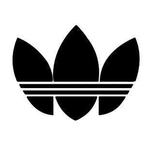 Adidas old logo listed in famous logos decals.