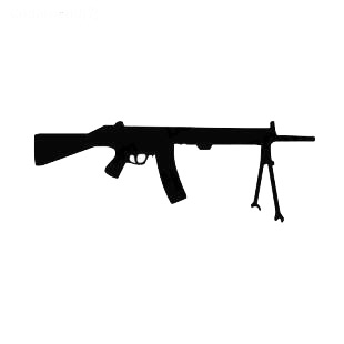 Gun pistol machine gun listed in military decals.