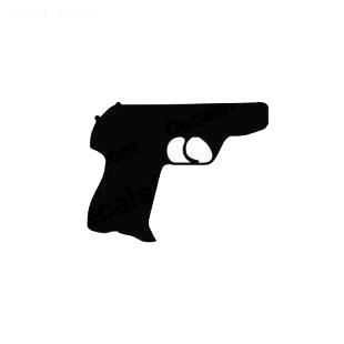 Gun pistol listed in military decals.
