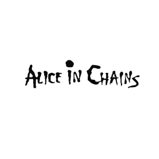Alice in chains music band listed in music and bands decals.