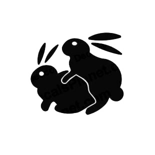Funny Bunny Rabbits Humping Sexy listed in funny decals.