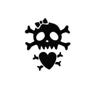 Funny Skull and Bones with Heart listed in funny decals.