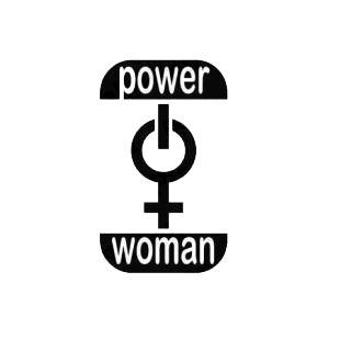 Funny Girl Power Woman listed in funny decals.