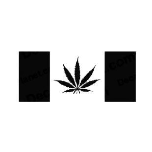 Funny Canada Flag Pot Leaf Marijuana listed in funny decals.