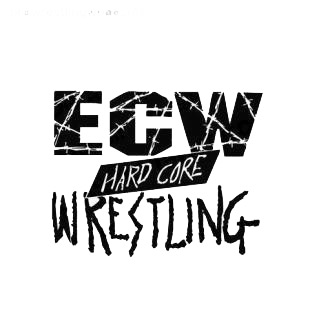 Wrestling ECW Hard core wresling listed in famous logos decals.