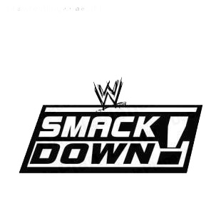 Wrestling Smack Down listed in famous logos decals.
