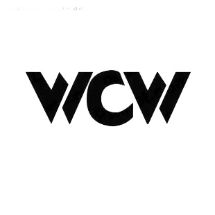 Wrestling WCW listed in famous logos decals.