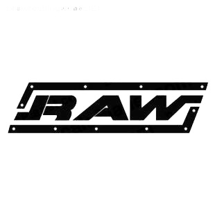 Wrestling RAW listed in famous logos decals.