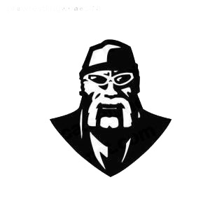 Wrestling Hulk Hogan listed in famous logos decals.
