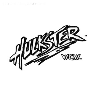 Wrestling Hulkster WCW listed in famous logos decals.