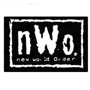Wrestling NWO New world order listed in famous logos decals.