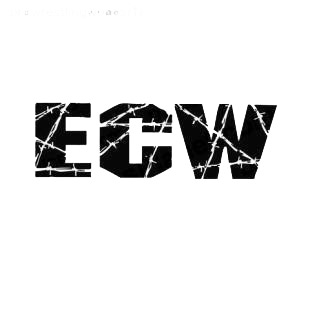 Wrestling ECW listed in famous logos decals.